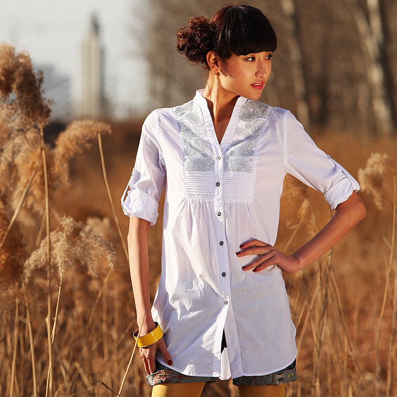 Как сшить женскую рубашку-тунику 18