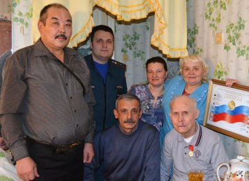 Ветерану Тюменской пожарной охраны Александру Ксенофонтовичу Кукарскому исполнился 91 год